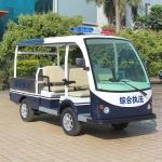 车尾带货斗两排座电动巡逻车