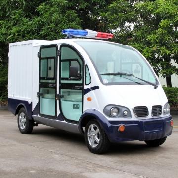 两排座带货箱电动封闭巡逻车