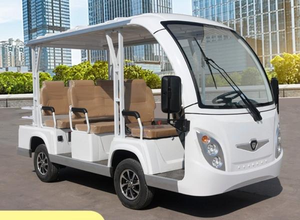 新款注塑八座电动观光车,塑料壳体电动观光车,电动看楼车,景区观光车